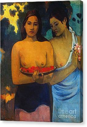 Gauguin: Two Women, 1899 Canvas Print by Granger