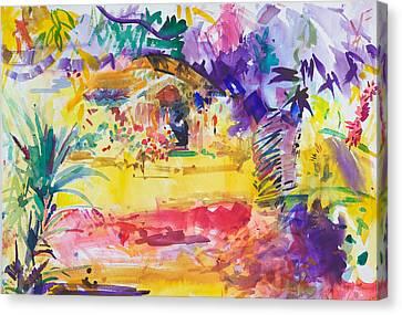 Gauguin's Garden Canvas Print by Peter Graham