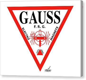 Gauss Canvas Print