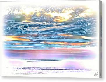 Canvas Print featuring the photograph Gauzy Sunset by Walt Foegelle