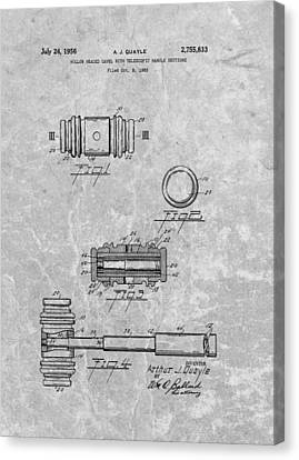 Gavel Patent Canvas Print by Dan Sproul
