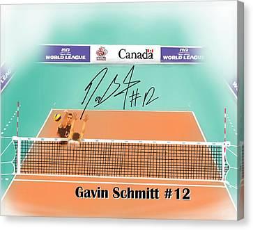 Basketball Collection Canvas Print - Gavin Schmitt by Darren Cannell