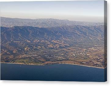 Gaviota Coast And The Santa Ynez Canvas Print by Rich Reid