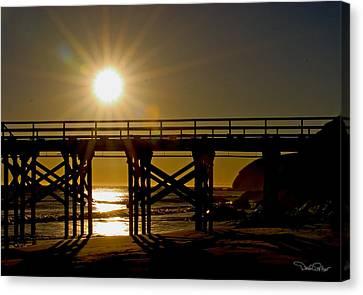 Gaviota Sunset Canvas Print by David Salter