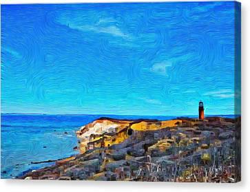 Gay Head Lighthouse  1 - Aquinnah Canvas Print by Jeffrey Canha