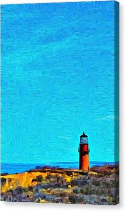 Gay Head Lighthouse 2 - Aquinnah Canvas Print by Jeffrey Canha