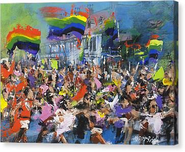 Gay Parade Canvas Print