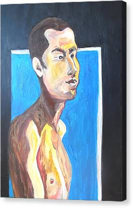 Canvas Print featuring the painting Gay Survivor by Esther Newman-Cohen