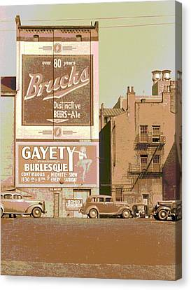 Fire Escape Canvas Print - Gayety Burlesque Parking by Padre Art
