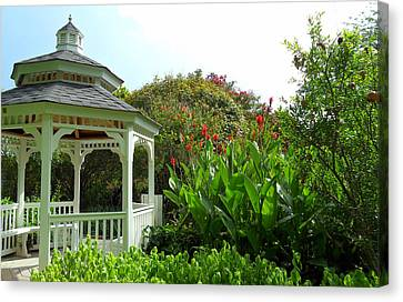 Gazebo Flower Garden Canvas Print by Sheri McLeroy