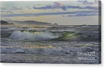 Gazing At The Ocean Surf Canvas Print