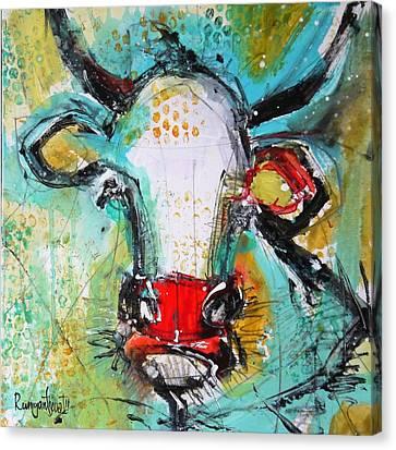 Gazing Cow 2 Canvas Print