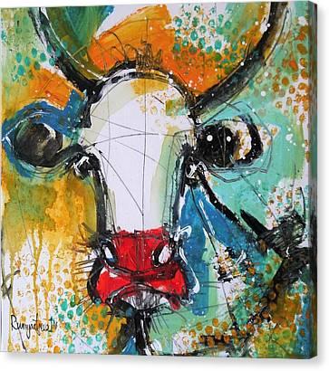 Gazing Cow Canvas Print by Irina Rumyantseva