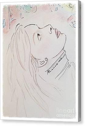 Gazing Up At Chagall  Canvas Print