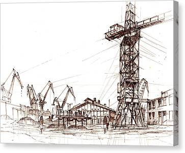 Gdansk Shipyard Canvas Print