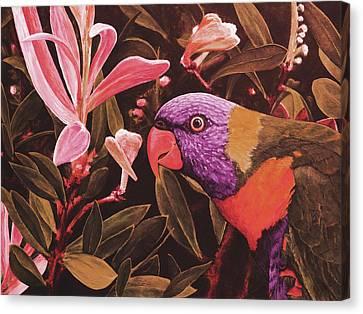 G'day Mate - Crimson Canvas Print by Julie Turner