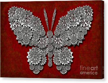 Gear Butterfly Canvas Print