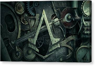Gear Head Steampunk  Canvas Print by Movie Poster Prints