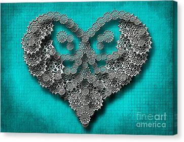 Gear Heart Canvas Print