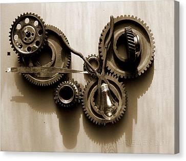 Gears Iv Canvas Print by Jan Brieger-Scranton