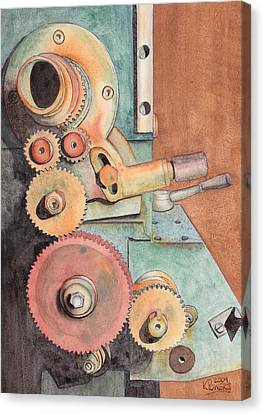 Gears Canvas Print by Ken Powers