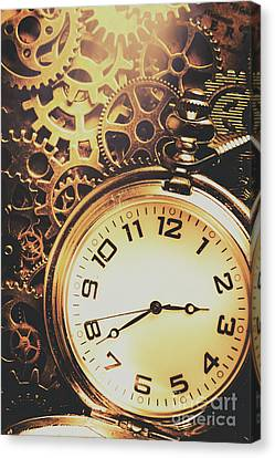 Gears Of Time Travel Canvas Print