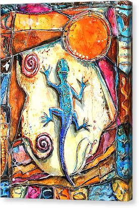 Gecko Canvas Print by Patricia Allingham Carlson