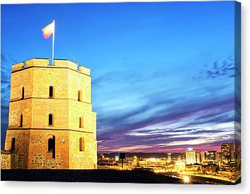 Canvas Print featuring the photograph Gediminas Tower by Fabrizio Troiani