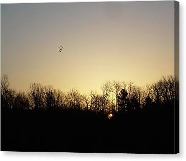 Canvas Print featuring the photograph Geese At Sunrise by Kent Lorentzen