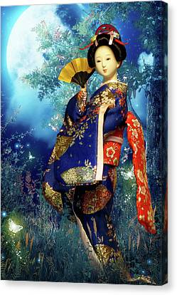 Geisha - Combining Innocence And Sophistication Canvas Print by Christine Till