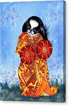 Geisha Chin Canvas Print by Kathleen Sepulveda