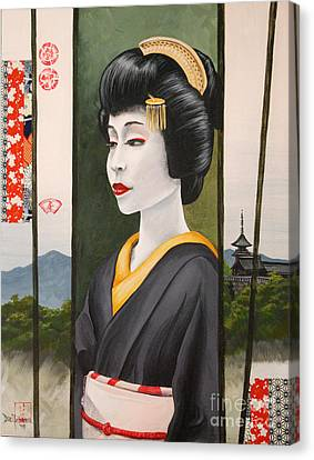 Geisha Canvas Print by Dee Youmans-Miller