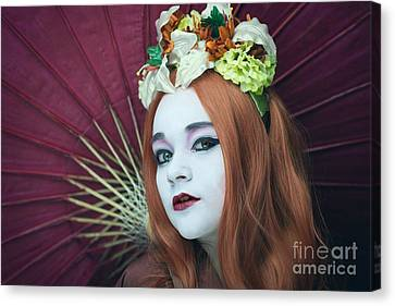 Geisha Girl Canvas Print - Geisha Girl by Amanda Elwell