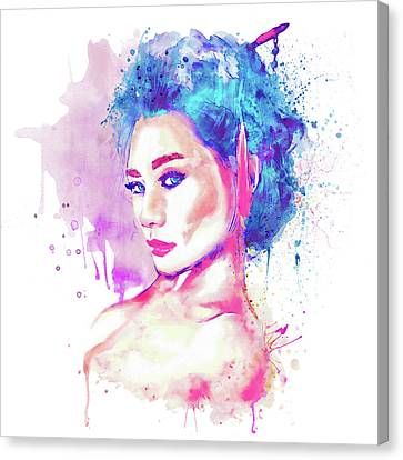 Geisha Girl Canvas Print - Geisha Girl by Marian Voicu