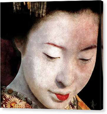 Canvas Print featuring the photograph Geisha Girl by Pennie  McCracken