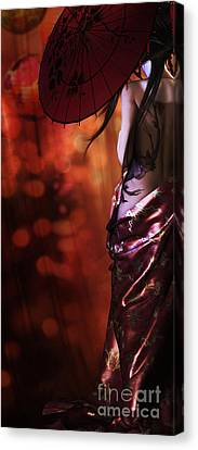 Geisha Gold Crop Canvas Print