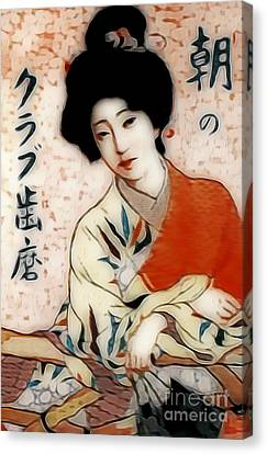 Geisha In Waiting  Canvas Print by Ian Gledhill