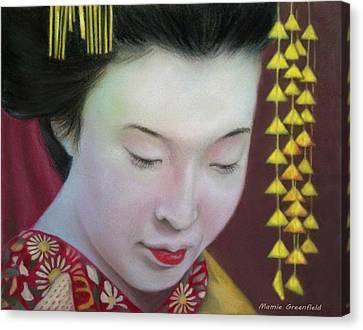 Geisha Canvas Print by Mamie Greenfield