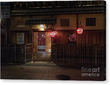 Geisha Tea House, Gion, Kyoto, Japan Canvas Print