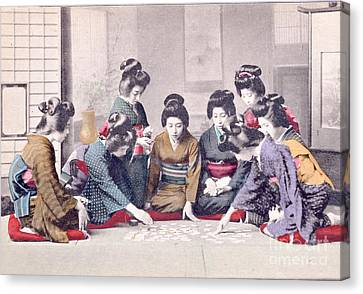Geishas Canvas Print by Delphimages Photo Creations
