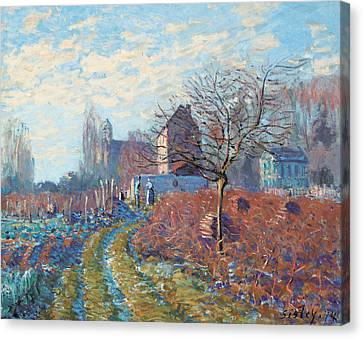 Gelee Blanche Canvas Print by Alfred Sisley