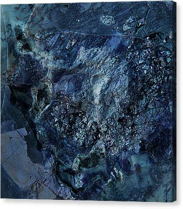 Gem 1 In Blue Canvas Print by Sean Holmquist