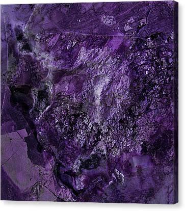 Gem 1 In Purple Canvas Print by Sean Holmquist