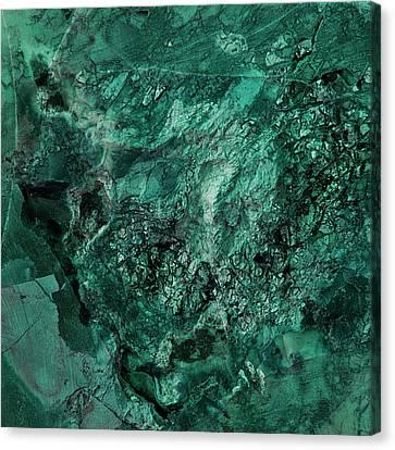Gem 1 In Teal Canvas Print by Sean Holmquist