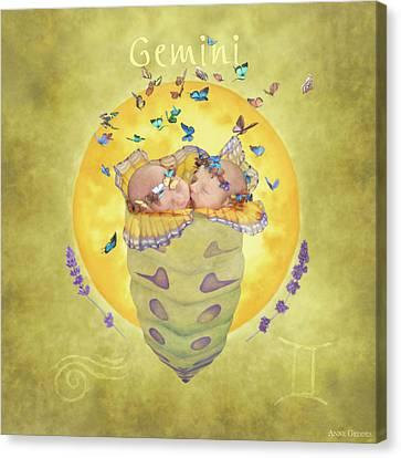 Gemini Canvas Print by Anne Geddes