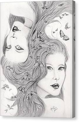 Gemini Canvas Print by Lorelei  Marie