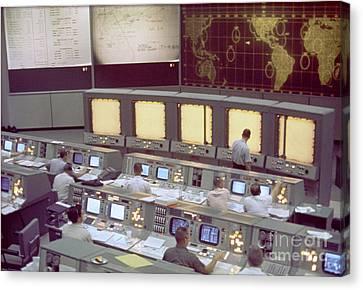Gemini Mission Control Canvas Print