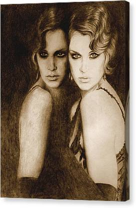 Canvas Print featuring the painting Gemini by Ragen Mendenhall
