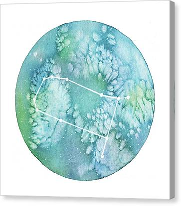Zodiac Signs Canvas Print - Gemini by Stephie Jones