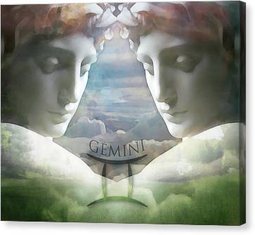 Gemini Twins Canvas Print by Kathleen Holley